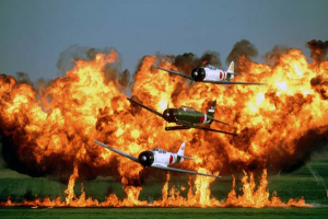 Perhaps one of the most compelling acts of the air show circuit, Tora! Tora! Tora! is an intense recreation of the attack on Pearl Harbor. (image credit: CAF Tora! Tora! Tora!)