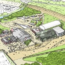 Artist rendition of the revised museum campus. (Image credit: Brooklands Museum)