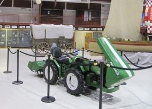 Current contents of the hangar include a boat, wagon and a tractor. (Image Credit: Save Pearson Air Museum)