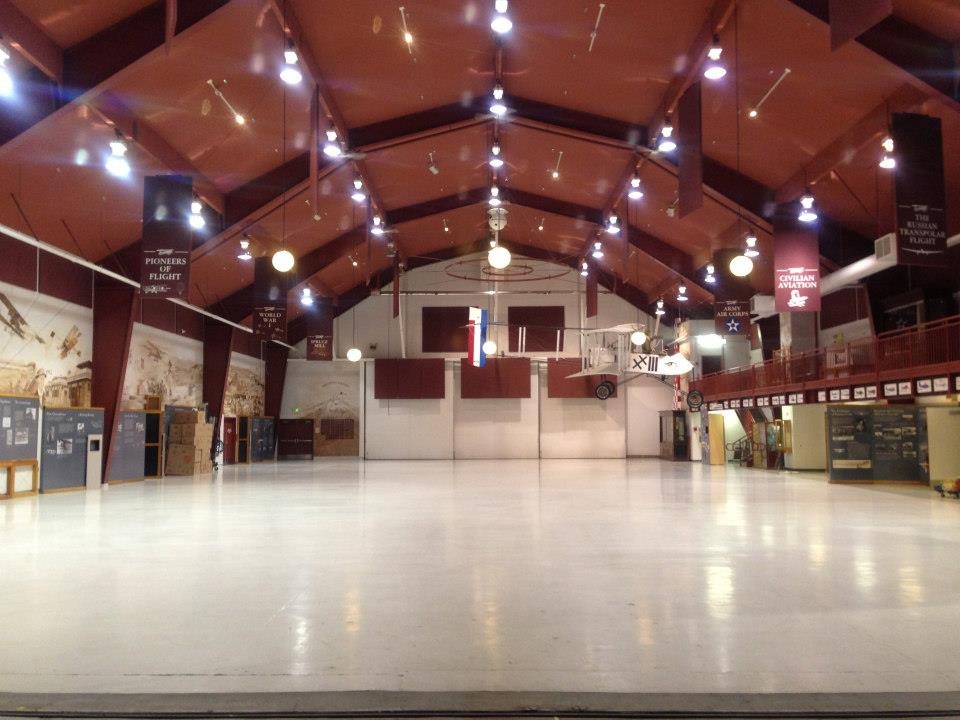 "The empty Pearson Air Museum Hangar on ""move out day."" (Image Credit: Pearson Air Museum)"