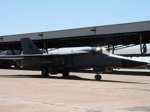 F-111 A8-148 at RAAF Amberley in 2010.