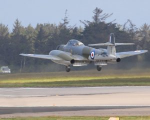 Armstrong Whitworth Meteor NF.11 touches down (Image Credit: Classic Air Force Museum)
