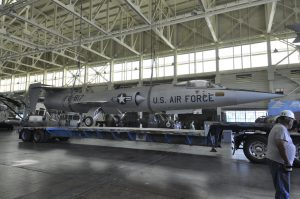 Starfighter is Hoisted off Trailer. (Image Credit: Pacific Aviation Museum)