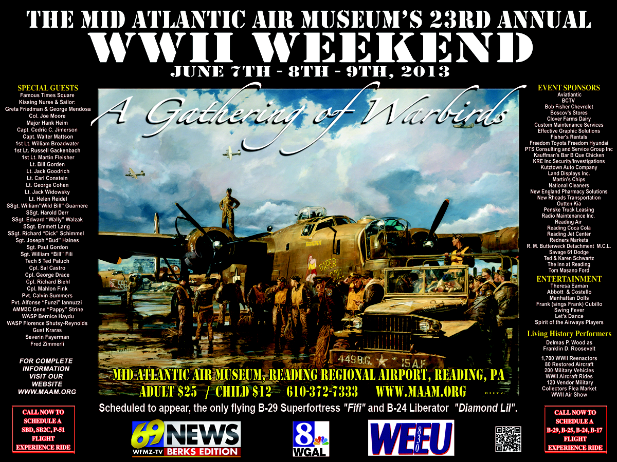 MAAM WWII Weekend Poster 2013
