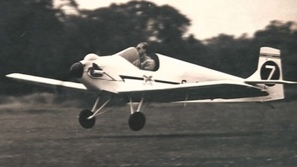Prince Philip flying the Druine D.31 Turbulent in 1959.