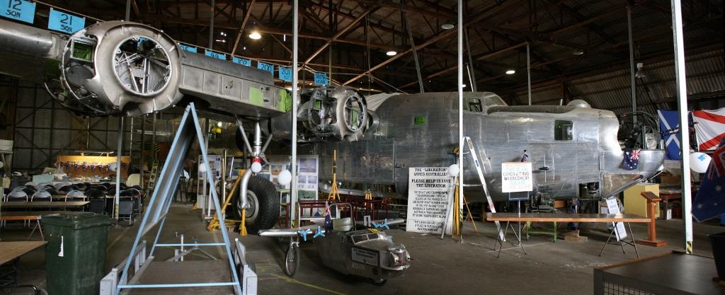 Restoration of RAAF Liberator in Werribee, Australia (Image Credit: B-24 Liberator Restoration Australia)