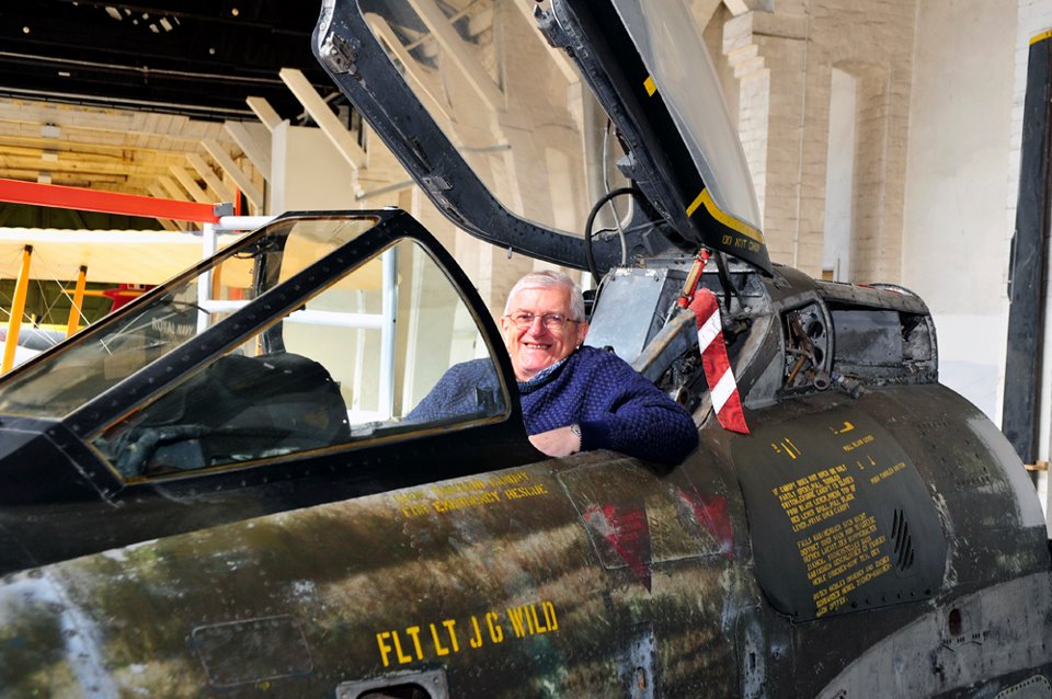 Squadron Leader Jim Wild back in his old cockpit after 36 years (Image Credit: Herbie Fatherly / BDAC)