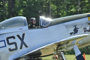 Jerry Yagen prepares for take off in his P-51