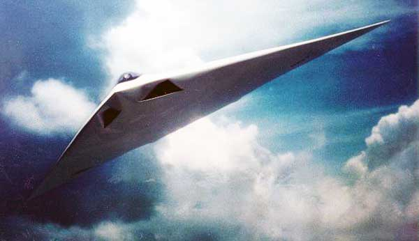 Artist's Rendering of an A-12 in flight (Image Credit US Navy)