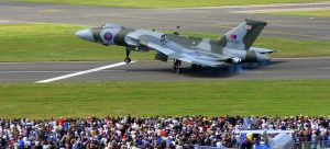 Last flying Vulcan in the world wows crowd at air show. (Image Credit: GregdeTours)