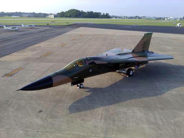 "Freshly Restored F-111 Aardvark #178 ""War Horse"" (Image Credit: Aviation Heritage Park)"