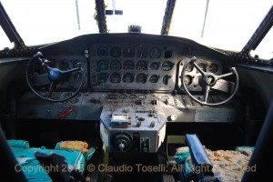 Grumman HU-16 Albatross 15-14 Cockpit was dirty, but remarkably complete. (Image Credit: Claudio Toselli)