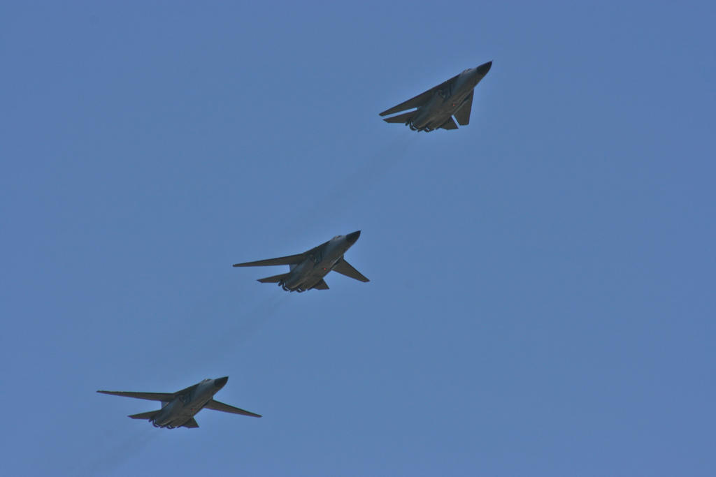Three RAAF F-111s demonstrate different wing configurations (Image Credit: Jason Baker, CC 2.0)