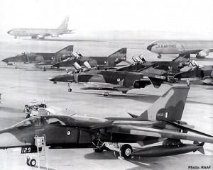 A8-129 on the flight line at RAAF Amberley in June, 1973 (Image Credit: RAAF)