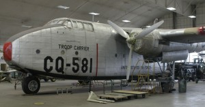 National Museum of the U.S. Air Force's movie-starring Fairchild C-82 Packet, presently undergoing restoration.