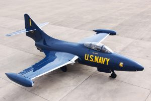 Grumman F9F-5 Panther Honors KIA Blue Angel Flight Commander John Magda (Image Credit: Aviation Heritage Park)