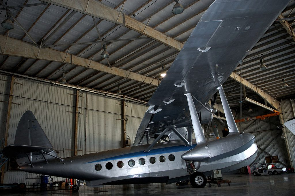 Sikorsky S-43 N440 at Brazoria County Airport in Texas, where it has been hangared since 1988. (Image Credit: Karen Nutini)