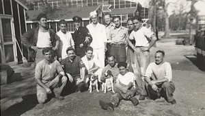 Italian POWs at Camp Montecello in Arkansas. Many Italian and German POWs were so taken with America, they immigrated back to the states after repatriation to their homelands.