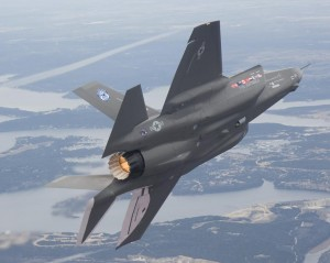 Improvements in materials and computer-aided design allows the F-35 stealthy characteristics in an more aerodynamically conventional shape than it's forebears (Image Credit: Lockheed Martin)