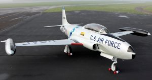 Lockheed T-33A-5 Shooting Star, served as transportation for General Dougherty. (image Credit: Aviation Heritage Park)
