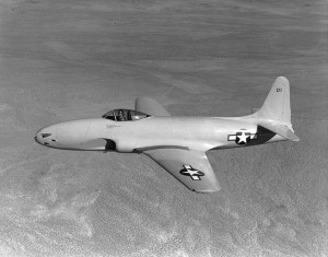 Lockheed XP-80 on a test flight in 1944 (Image Credit: USAAF)