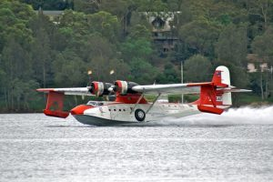PBY6A Catalina, VH-CAT at Lake Macquarie in 2008 (Image Credit: Mike Usher / Catalina Flying Memorial)