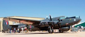 "Resplendent, but grounded: ""Mr McHenry"" on its unveiling day. (Image Credit: Pima Air & Space Museum)"