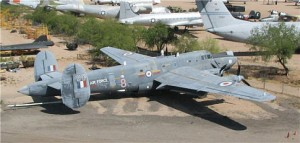 "RAF Shackleton ""Mr McHenry"" as delivered to Pima. (Image Credit: Pima Air & Space Museum)"