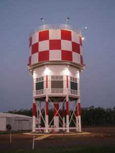 Restored water/control tower from 1940 served RAAF Darwin until 1958 (Image Credit: AAHC)