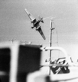 Savoia Marchetti SM.79 during an attack on a convoy bound for Malta during the Second World War
