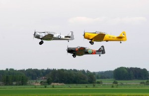 Swedish Air Force Historic Flight North American Harvards (Image Credit: LIAS)