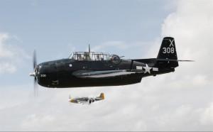 TFLM's Avenger, with P-51 Mustang Dakota Kid II (Image Credit: TFLM)