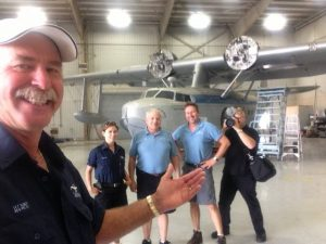 Weeks and his crew at the Sikorsky's disassembly site in Texas (Image Credit: Fantasy of Flight)