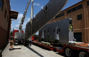 S-43's wing sections being offloaded at Fantasy of Flight (Image Credit: Fantasy of Flight)