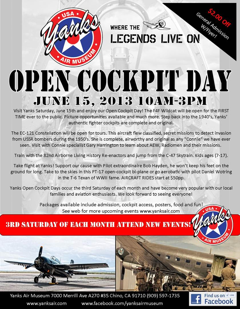 Yanks Air Museum Open Cockpit Day- 6/15/13