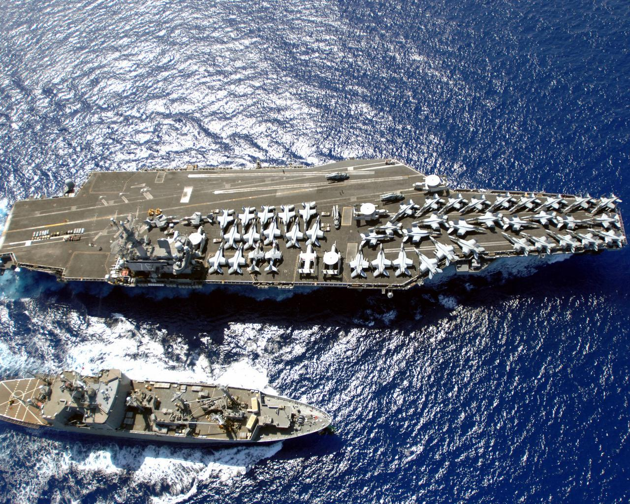 Though huge for a ship, Nimitz-class aircraft carrier USS Ronald Reagan (CVN 76) makes for an extremely tight air base (Image Credit: US Navy)