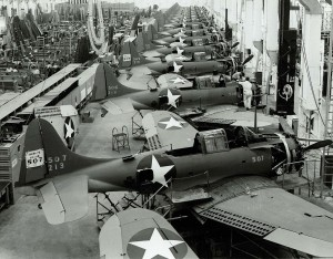 Douglas's SBD Dauntless Production in El Segundo in 1943 (Image Credit: US Navy)