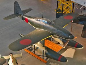 The world's last surviving Aichi M6A in the collection of the Smithsonian (Image Credit: Smithsonian Air and Space Museum)