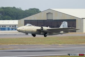Takeoff of English Electric Canberra after RIAT 2013 (Image Credit: Alan Howell)