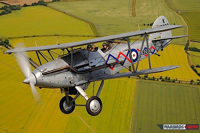 Hawker Demon over the English countryside (Image Credit: Luigino Caliaro)