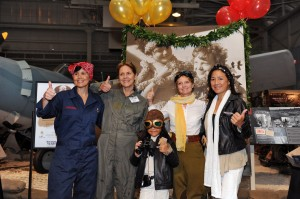 Visitors didn't limit themselves just to Amelia, showing up in all manner of costumes representing women in aviation. (Image Credit: Pacific Aviation Museum)