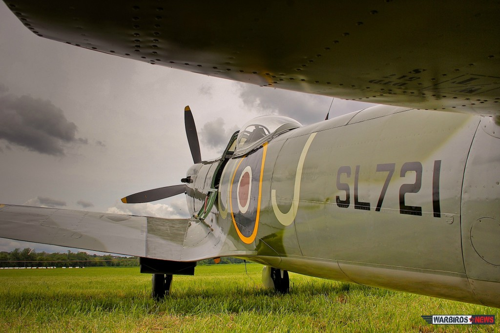 Great shot of the Supermarine Spitfire Mk XVI - Vintage Wings of Canada (Image Credit: Tom Pawlesh)