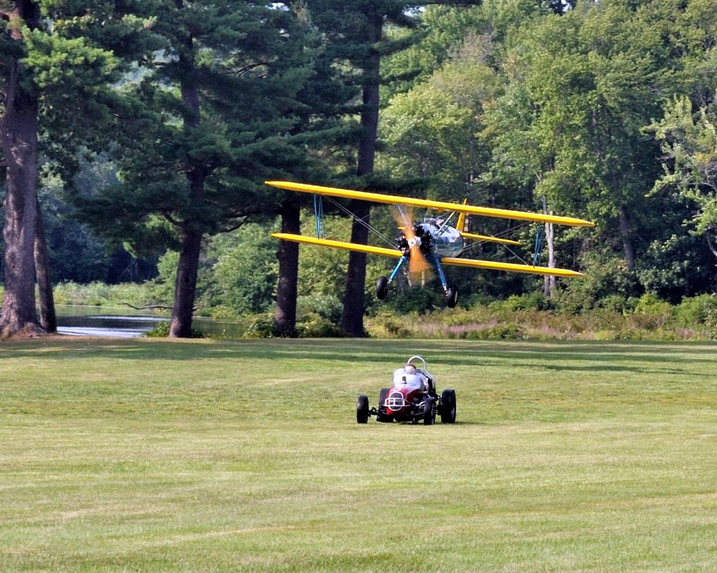 Stearman vs Midget racer (Image Credit: Collings Foundation)