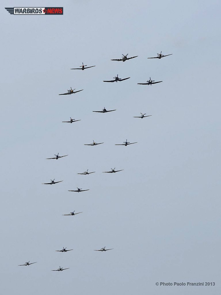 """Balbo"" formation that closed out each day's aerial display. (Image Credit: Paolo Franzini)"