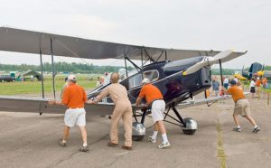 VWoC's orange-shirted volunteers helping to get the show in the air (Image Credit: VWoC)