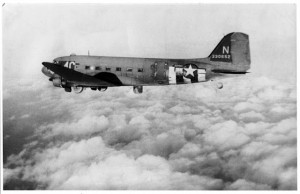 National Warplane Museum's C-47 in 1944 (Image Credit: National Warplane Museum)
