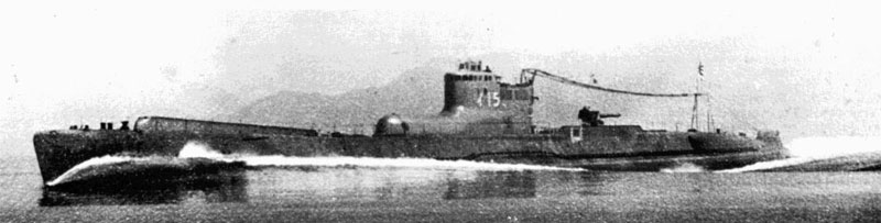 Imperial Japanese Navy Submarine I-15. Note bulge in front of conning tower for aircraft stowage.