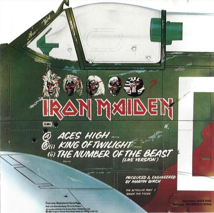 "The Spitfire's ""Iron Maiden Livery"" on the back cover (Image Credit: Iron Maiden)"