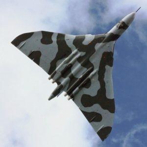 Avro Vulcan XH558, G-VLCN, overflies RAF Cosford in 2009. (Image Credit: James Humphreys, CC 3.0)