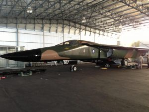 F-111C A8-147 takes pride of place in the museum's newly restored WWII-era hangar. (Image Credit: EHMAHAA)
